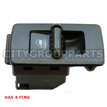 VW BEETLE PASSENGER SIDE WIDE WINDOW ADJUSTMENT SWITCH 1C0959855 A 4 PINS